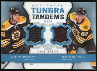 2013-14 Upper Deck Artifacts Tundra Tandems Jerseys Blue #TTHM Nathan Horton/Brad Marchand B