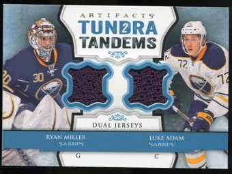 2013-14 Upper Deck Artifacts Tundra Tandems Jerseys Blue #TTMA Ryan Miller/Luke Adam B