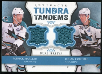 2013-14 Upper Deck Artifacts Tundra Tandems Jerseys Blue #TTMC Patrick Marleau/Logan Couture B