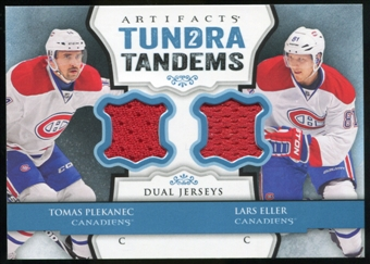 2013-14 Upper Deck Artifacts Tundra Tandems Jerseys Blue #TTPE Tomas Plekanec/Lars Eller B