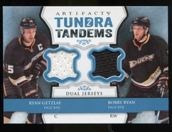 2013-14 Upper Deck Artifacts Tundra Tandems Jerseys Blue #TTRB Ryan Getzlaf/Bobby Ryan B