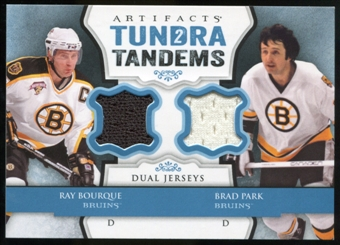 2013-14 Upper Deck Artifacts Tundra Tandems Jerseys Blue #TTBP Ray Bourque/Brad Park C