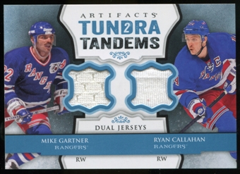 2013-14 Upper Deck Artifacts Tundra Tandems Jerseys Blue #TTGC Ryan Callahan/Mike Gartner C