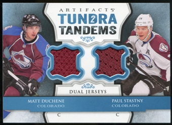 2013-14 Upper Deck Artifacts Tundra Tandems Jerseys Blue #TTSD Matt Duchene/Paul Stastny C
