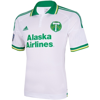 Portland Timbers Adidas ClimaCool White Replica Jersey (Adult M)