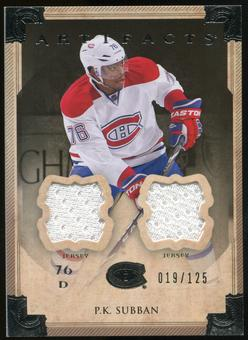 2013-14 Upper Deck Artifacts Jerseys #77 P.K. Subban /125