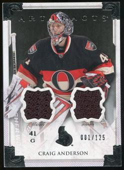 2013-14 Upper Deck Artifacts Jerseys #108 Craig Anderson G /125