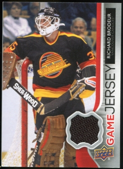 2014/15 Upper Deck Game Jerseys #GJRB Richard Brodeur E