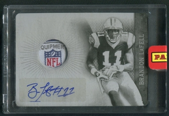 2010 Panini Plates and Patches #205 Brandon LaFell Rookie Printing Plate Black NFL Shield Auto #1/1