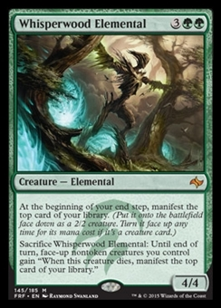 Magic the Gathering Fate Reforged Single Whisperwood Elemental Foil NEAR MINT (NM)