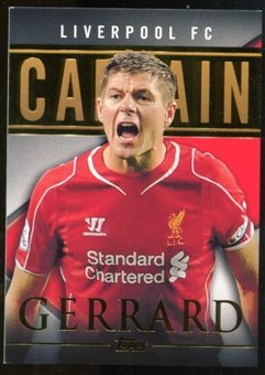 2014/15 Topps English Premier League Gold Captains #CSSG Steven Gerrard