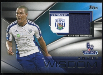 2014/15 Topps English Premier League Gold Football Fibers Relics #FFRAW Andre Wisdom