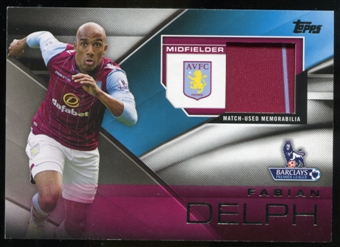2014/15 Topps English Premier League Gold Football Fibers Relics #FFRFD Fabian Delph