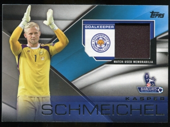 2014/15 Topps English Premier League Gold Football Fibers Relics #FFRKS Kasper Schmeichel