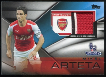 2014/15 Topps English Premier League Gold Football Fibers Relics #FFRMA Mikel Arteta