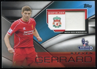 2014/15 Topps English Premier League Gold Football Fibers Relics #FFRSG Steven Gerrard