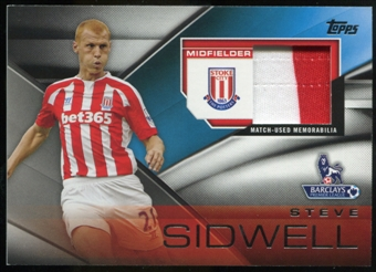 2014/15 Topps English Premier League Gold Football Fibers Relics #FFRSS Steve Sidwell