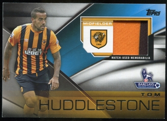 2014/15 Topps English Premier League Gold Football Fibers Relics #FFRTH Tom Huddlestone