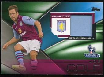 2014/15 Topps English Premier League Gold Football Fibers Relics Green #FFRJCE Joe Cole