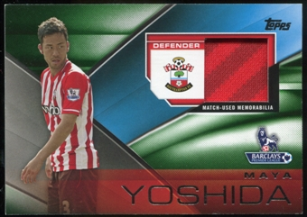 2014/15 Topps English Premier League Gold Football Fibers Relics Green #FFRMY Maya Yoshida