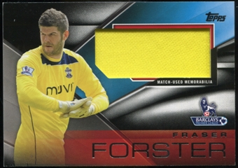 2014/15 Topps English Premier League Gold Football Fibers Relics Jumbo Black #FFRFF Fraser Forster /25