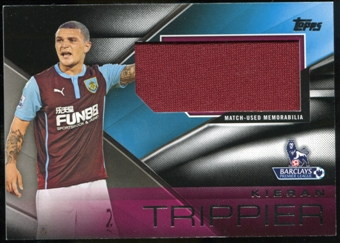 2014/15 Topps English Premier League Gold Football Fibers Relics Jumbo Black #FFRKT Kieran Trippier /25