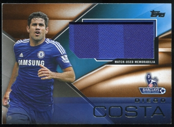 2014/15 Topps English Premier League Gold Football Fibers Relics Jumbo Orange #FFRDC Diego Costa /11