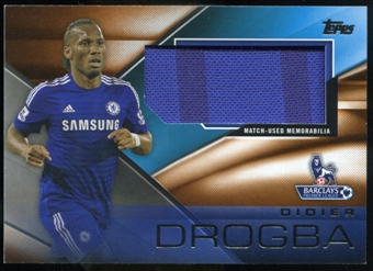 2014/15 Topps English Premier League Gold Football Fibers Relics Jumbo Orange #FFRDD Didier Drogba /11