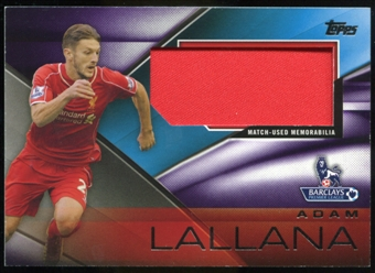 2014/15 Topps English Premier League Gold Football Fibers Relics Jumbo Purple #FFRALA Adam Lallana /50