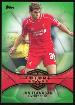 2014/15 Topps English Premier League Gold Future Stars Green #FSJF Jon Flanagan /60