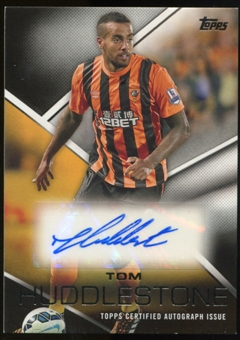 2014/15 Topps English Premier League Gold Premier Autographs #PATH Tom Huddlestone Autograph