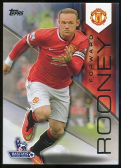 2014/15 Topps English Premier League Gold Black #86 Wayne Rooney /25