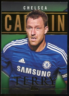 2014/15 Topps English Premier League Gold Captains Green #CSJT John Terry /60