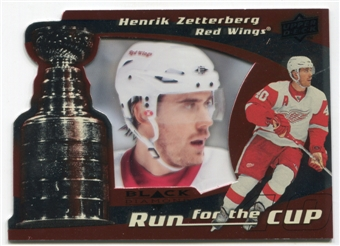 2008/09 Upper Deck Black Diamond Run for the Cup #CUP17 Henrik Zetterberg /100