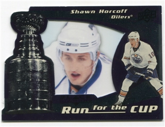2008/09 Upper Deck Black Diamond Run for the Cup #CUP18 Shawn Horcoff /100