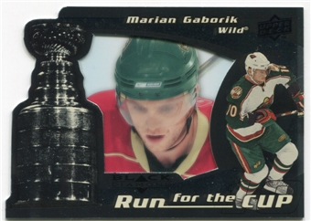 2008/09 Upper Deck Black Diamond Run for the Cup #CUP21 Marian Gaborik /100