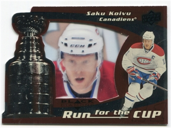 2008/09 Upper Deck Black Diamond Run for the Cup #CUP23 Saku Koivu /100