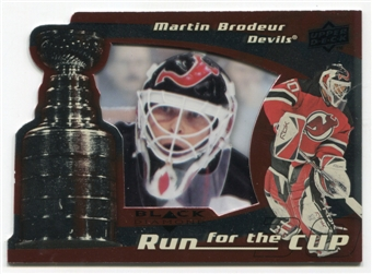 2008/09 Upper Deck Black Diamond Run for the Cup #CUP24 Martin Brodeur /100