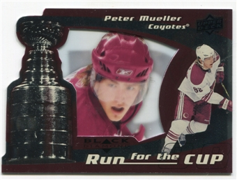 2008/09 Upper Deck Black Diamond Run for the Cup #CUP32 Peter Mueller /100