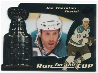 2008/09 Upper Deck Black Diamond Run for the Cup #CUP36 Joe Thornton /100