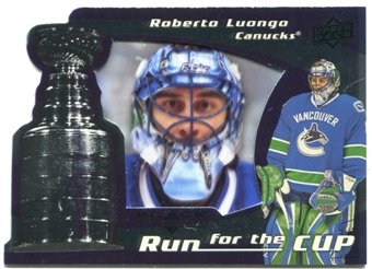 2008/09 Upper Deck Black Diamond Run for the Cup #CUP40 Roberto Luongo /100