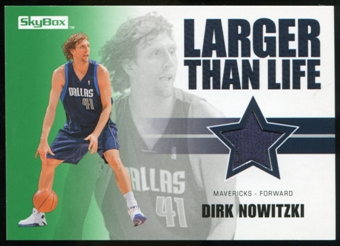 2008/09 Upper Deck SkyBox Larger Than Life Retail #LLDN Dirk Nowitzki