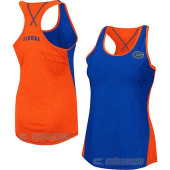 Florida Gators Colosseum Womens Blue & Orange Bristol Tank (Womens M)