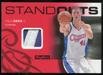 2008/09 Upper Deck SkyBox Standouts Patches #SOPD Paul Davis /25