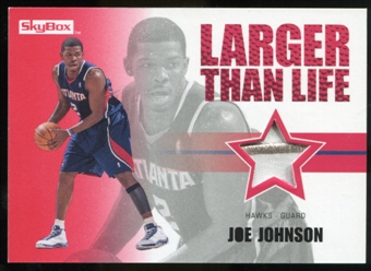 2008/09 Upper Deck SkyBox Larger Than Life Patches #LLJJ Joe Johnson /25