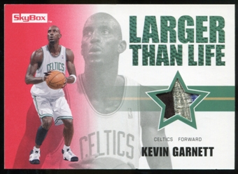 2008/09 Upper Deck SkyBox Larger Than Life Patches #LLKG Kevin Garnett /25