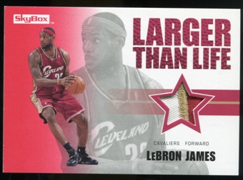 2008/09 Upper Deck SkyBox Larger Than Life Patches #LLLJ LeBron James /25