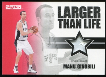 2008/09 Upper Deck SkyBox Larger Than Life Patches #LLMG Manu Ginobili /25