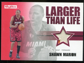 2008/09 Upper Deck SkyBox Larger Than Life Patches #LLSM Shawn Marion /25