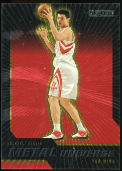 2008/09 Upper Deck SkyBox Metal Universe Precious Metal Gems Red #7 Yao Ming /50